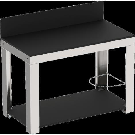 meuble pour plancha en inox. Black Bedroom Furniture Sets. Home Design Ideas