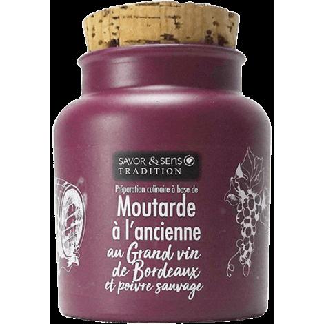 Moutarde au grand vin de Bordeaux et poivre sauvage