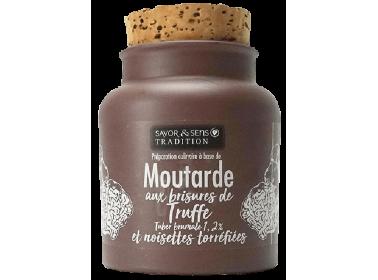 Moutarde aux noisette torrefiées & brisures de truffe