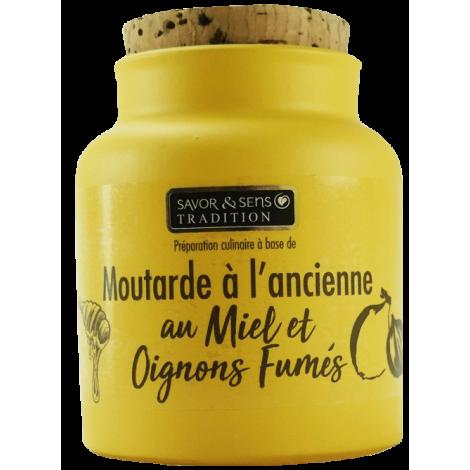 Moutarde au miel et oignon fumé