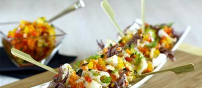 Salade de calamars croquante