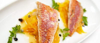Filet de rougets sur lit de mangue